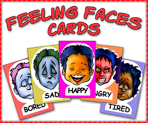 feeling faces cards Resources